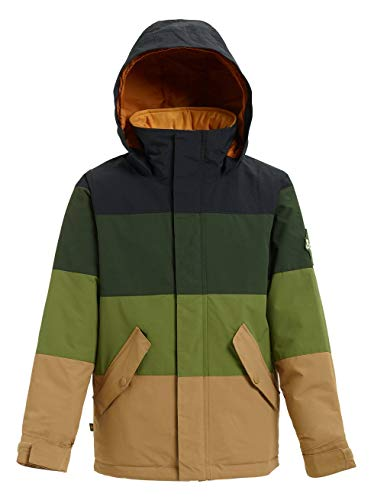 Burton Jungen Symbol Snowboard Jacke, True Black/Resin/Olive, XL
