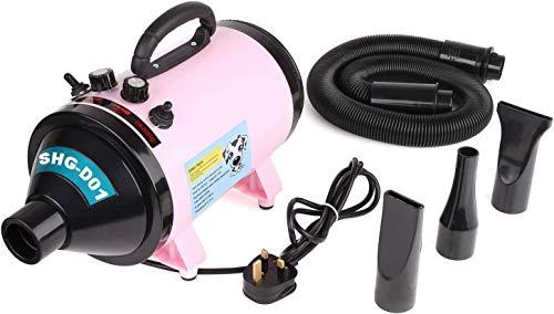 pedy Hundefön Pet Dryer für Hundepflege Tierfön, Hundetrockner mit 3 Düsen, 2800W, Einstellbare Windgeschwindigkeit, Wärmegleichgewicht pink