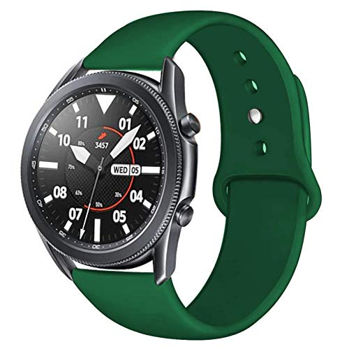 LWHAMA Lwwhama Flyuzi 20 / 22mm Correa para Huawei WTACH GT 2 / 2E 42/46 MM para Samsung Gear S3 / S2 / Sport Silicone Brazalet Band Galaxy Watch 46mm / 42mm / Activo 2