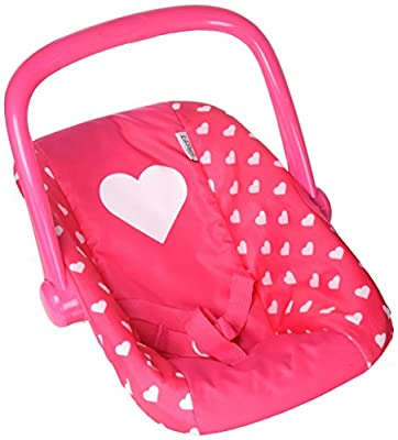 My First Doll Car Seat Infant Seat, ADJUSTABLE CARRIER ? Converts from Rocking Bouncer Baby Doll Carrier to Feeding Seat ?Pretend Play Toy