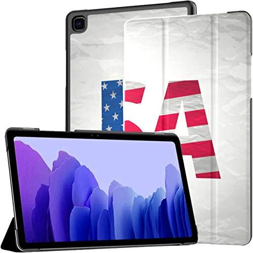 Hecho en los Estados Unidos Diseño de tipografía Camiseta Funda para Tableta gráfica Galaxy Tab A7 Fundas para Galaxy Tab A de 10,4 Pulgadas Funda para Tableta con activación automática/re