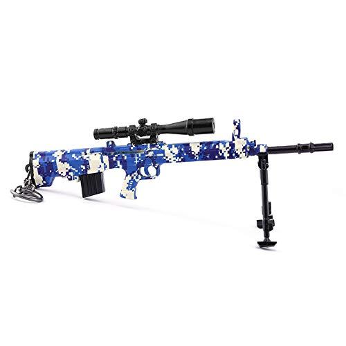 Chaorui - Games Collection 1/6 Metal 88 SKS. Pistola de rifle de francotirador, modelo figura de acción, juguetes colección, llavero para regalo