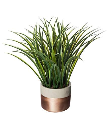 AC-Déco Plante Verte Artificielle avec Son Pot en Ciment - H 40 cm