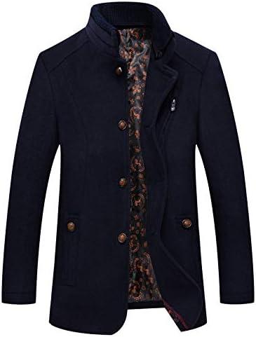 Nomber 3 Colors Autumn Winter Wool Overcoat Men's Double Collar Wool Overcoat Coat Men's Wool Blend Hooded Pea Outerwear