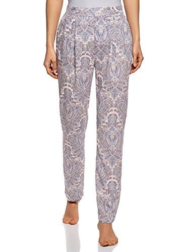 oodji Collection Mujer Pantalones de Pijama, Multicolor, ES XS/XS