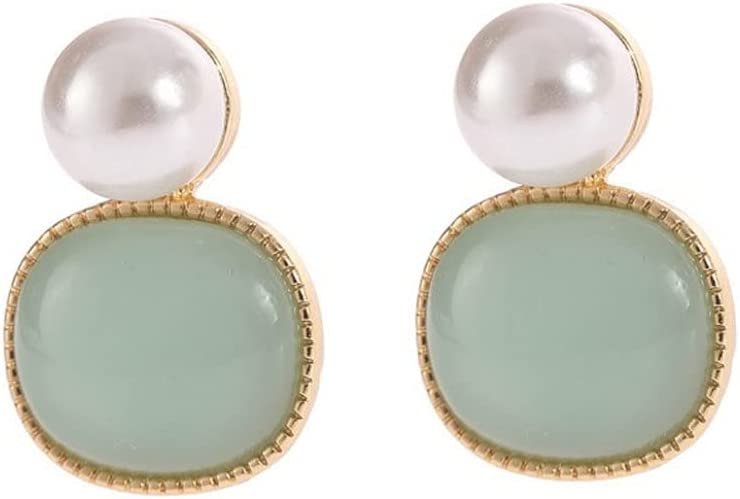 Tcplyn Clip Earrings for Women, 1 Pairs Clip on Earrings for Women Non Pierced Clip On Earrings for Rose Flower CZ Simulated water Pearl Twist Knot Earrings for Girls Jewelry Professional