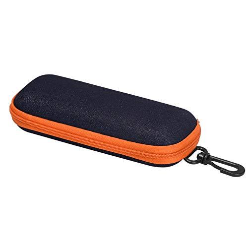 Boner 1 stks brillen gevallen cover zonnebril case voor vrouwen mode glazen doos met lanyard rits lenzenvloeistof gevallen, oranje