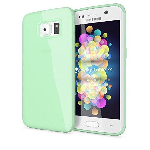 NALIA Funda Compatible con Samsung Galaxy S6 Edge Plus, Ultra-Fina Gel Protectora Movil Carcasa Silicona Telefono Bumper, Ligera Goma Cubierta Jelly Cobertura Delgado Cover Case - Verde Claro