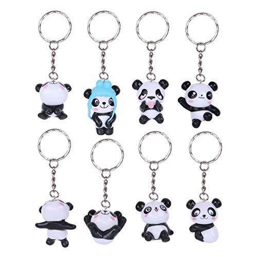 STOBOK Lot de 8 porte-clés en forme de panda