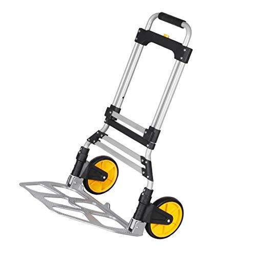 Carritos para equipaje Carro Grande ATV Carga de Carga 150 kg Plegable Carro de Equipaje portátil de Carro de Plata Carro de la Compra en el hogar (Color : Silver, Size : 49 * 35 * 106cm)
