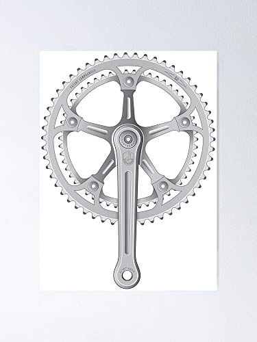 MCTEL Campagnolo Super Record Strada Chainset 1974 Poster 11.7x16.5 Inch Frame Board for Office Decor, Best Gift Dad Mom Grandmother and Your Friends