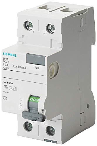 Siemens 5sv - Interruptor diferencial clase-ac 2 polos 40a 300ma 70mm