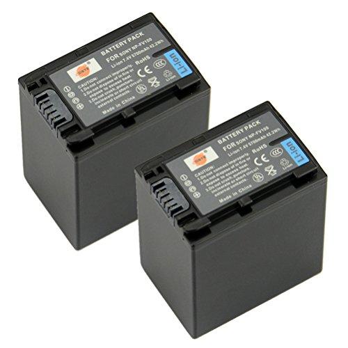 DSTE® 2x NP-FV100 Recargable Li-ion Batería para Sony DCR-SR15, SR21, SR68, SR88,...