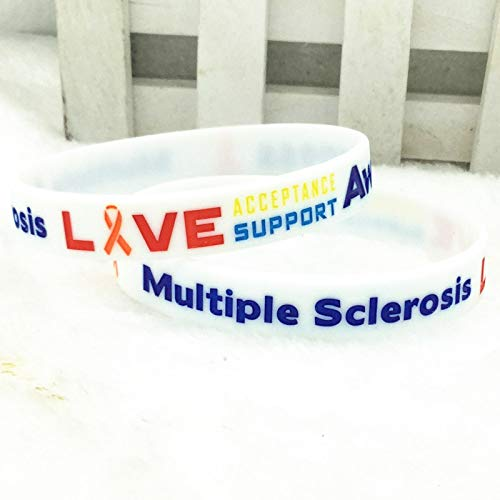 Xi-Link Múltiples Alertas De Esclerosis Múltiple Pulsera De Pulsera De Silicona (Color : White)
