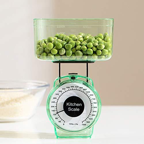 Échelle De Cuisine,Mécanique Cuisine Échelle Alimentaire (Capacité:1kg 2.2lb),Balance Food Baking Mécanique Dial Compact Bowl Orange