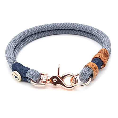 KENSONS for dogs Hundehalsband aus Tau mit Scherenkarabiner | robust und wetterfest | Ø10mm | Hirschhorn-Design