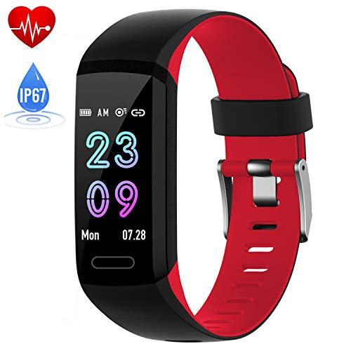 スマートウォッチ 心拍計 万歩計 健康管理 活動量計 スマートブレスレット IP67防水 腕時計 着信電話Line通知