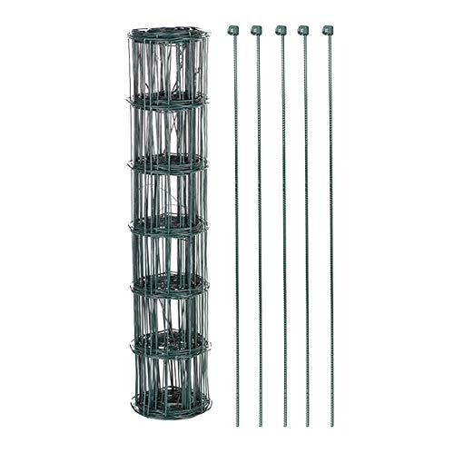 Omheining tuinhek 800 cm gaas groen gaas hek 8 meter rooster hek set