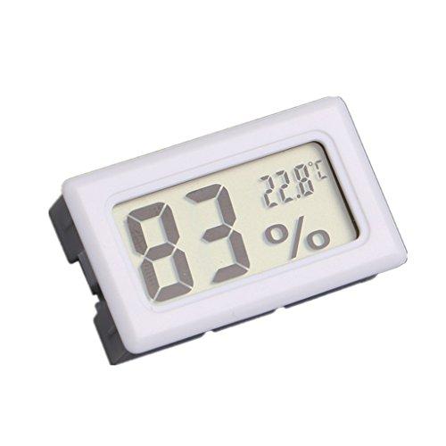 Sherry 超大画面デジタル温湿度計 高精度 温度 ・ 湿度 計 ホワイト