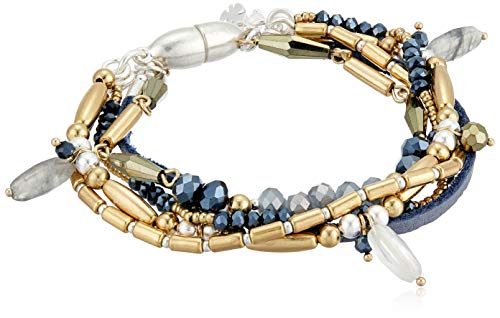 Lucky Brand Jewelry 5 Layer Gold and Silver Bracelet, Two Tone (JWEL4977), One Size
