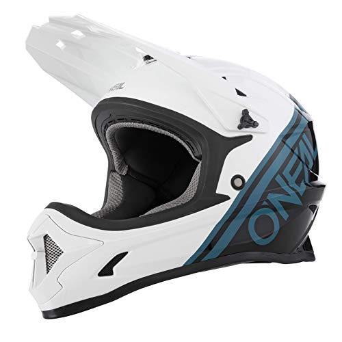 O\'NEAL | Mountainbike-Helm | MTB Downhill | Nach Sicherheitsnorm EN1078, Ventilationsöffnungen für Luftstrom & Kühlung, ABS Außenschale | SONUS Helmet SPLIT | Erwachsene | Schwarz Weiß | Größe M