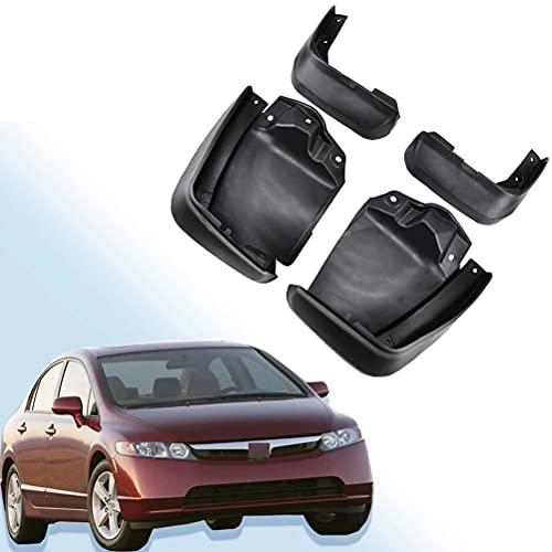 WXHBB Car Fender Front Rear Mud Flaps Guard Splash Mudflaps Mud Flap Mudguards For Civic 2012-2015, Car Exterior Decoration Accessories,4 Pcs