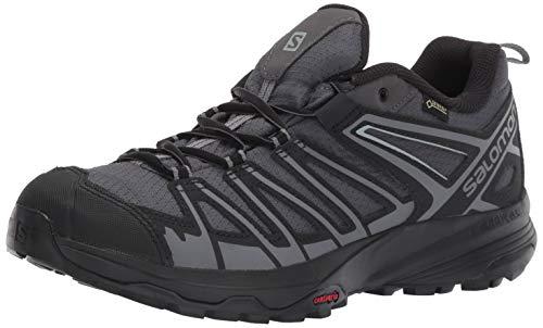 Salomon Men's X Crest GTX Hiking Shoes, Magnet/Black/Quiet Shade, 9
