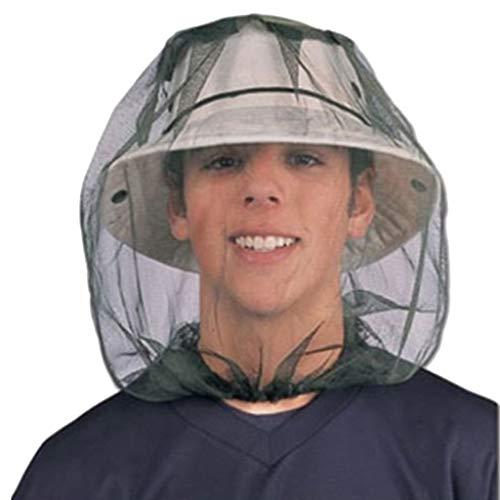 VRTUR Outdoor Moskito Kopfnetz Insektenschutz Hut Integriertem Moskitonetz Kopf Geeignet für Wandern Camping, Klettern, Angeln, Radfahren, Imkerei Nur Mesh Grün