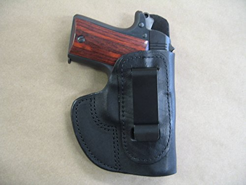 Azula IWB Molded Leather Concealed Carry Holster for Kimber Micro 9 9mm CCW Black RH