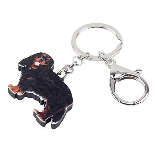 YASIKU sleutelhanger hond cavalier acryl King Charles Spaniel schattige diersieraden voor vrouwen meisjes tas bedeltjes car