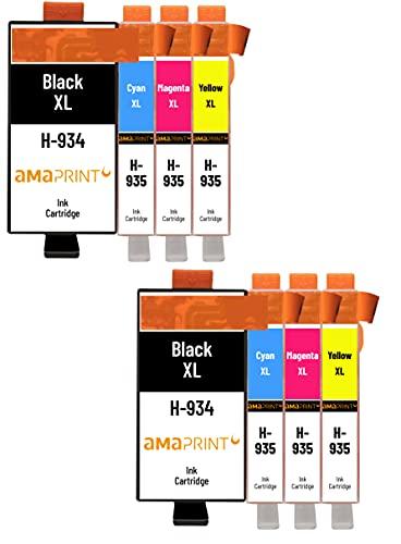 Amaprint 8 XL Cartuchos Compatible con HP 934 935 para HP OfficeJet 6200 6230 6235 6239 6800 6812 6815 6820 6822 6825 6830 6835