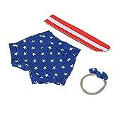 Conjunto de Pantalones Cortos, Trajes para niñas Bowknot Baby Star Pattern Diadema de Moda Infantil para Vacaciones para Maquillaje para fotografía(American Stars, 70cm)