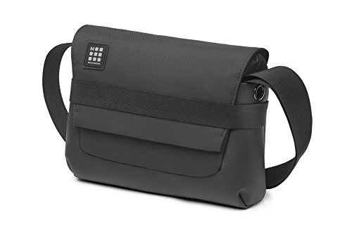 Moleskine ID Reporter Bag Borsa a Tracolla Device Bag per Tablet, Laptop, PC, Notebook e iPad fino a 15'', Dimensioni 26 x 6 x 21 cm, Colore Nero