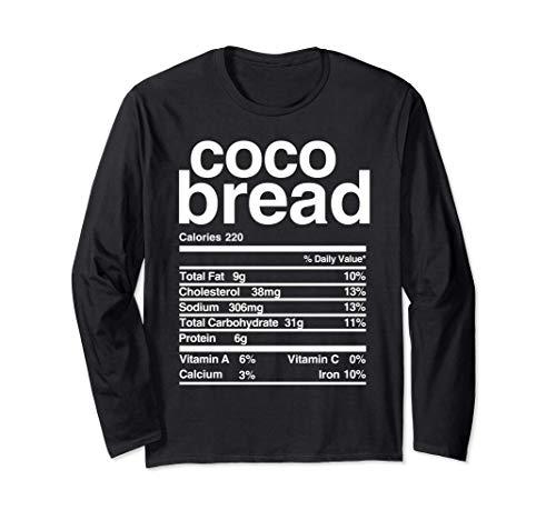 Jamaican Coco Bread Nutritional Value Long Sleeve T-Shirt