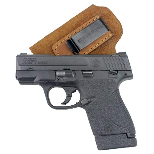 Relentless Tactical The Ultimate Suede Leather IWB Holster - Made in USA - Fits S&W M&P Shield - Glock 17 19 22 23 32 33 44 / Springfield XD & XDS/Walther P99 & All Similar Handguns - Brown RH
