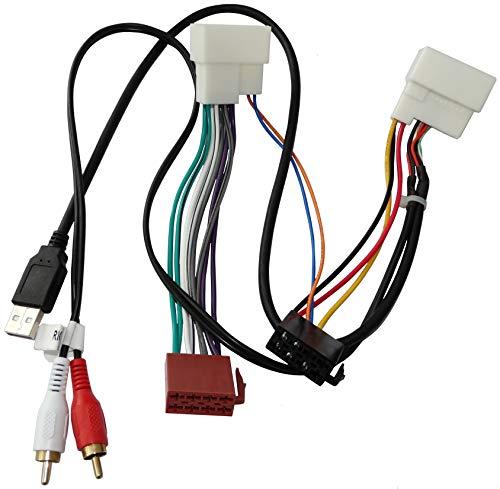 AERZETIX - Adattatore cavo - Spina ISO USB RCA - Per autoradio - C40120