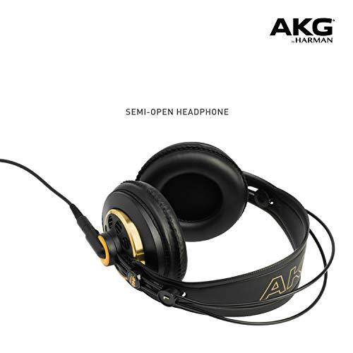 AKG K240 Studio - Semi Open - Auriculares profesionales, 6.00 x 9.20 x 6.00 pulgadas, negro