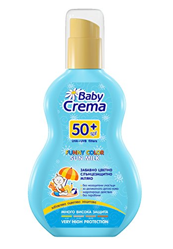 Baby Crema Protection Solaire Lait Couleur Drôle pour les Bébés SPF 50 + Pulvériser 150 ml