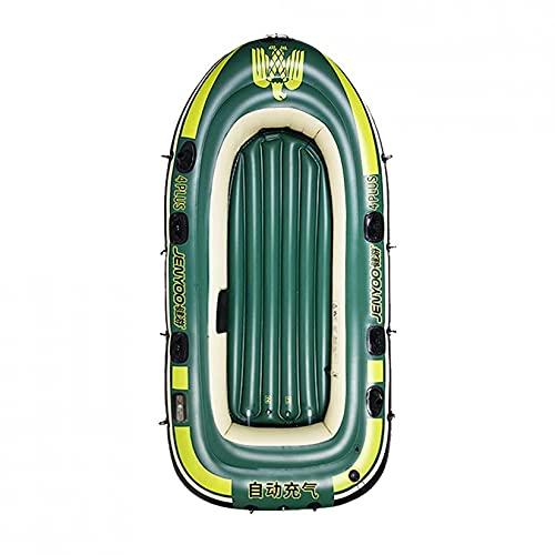 KUANDARMX Kayak De 280 Cm, Juego De Balsa De Barco, Bote De Remo Inflable De Goma para 2/3/4 Personas para Adultos, Canoa, Pesca, Fácil De Montar, 280cm