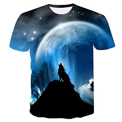 SSBZYES Camiseta para Hombre, Camiseta De Manga Corta con Cuello Redondo para Hombre, Camiseta De Gran Tamaño para Hombre, Camiseta Deportiva con Estampado De Animales a La Moda para Hombre, Jersey