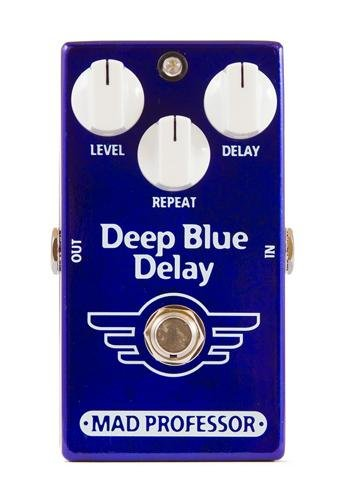 "Mad Professor Deep Blue Delay Stompbox Effect Pedal w/ 2x 6"" Patch Cables NEW"