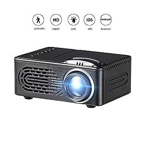 Sannysis 3D LED Mini Proyector 1080P con Altavoz,Proyector ...