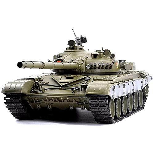 Deformation toy 1:16 Ruso T-72 Tanque de batalla principal 2.4g RC Modelo de tanque militar con efecto de humo de sonido, puede disparar contra los tanques de RC, juguetes eléctricos para niños y niño