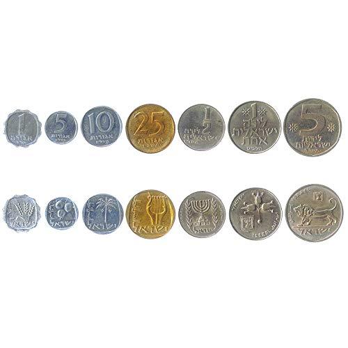 Hobby of Kings Set di 7 Monete da Israele. 1, 5, 10, 25 Agorot, ½, 1, 5 Lirot. 1960-1980
