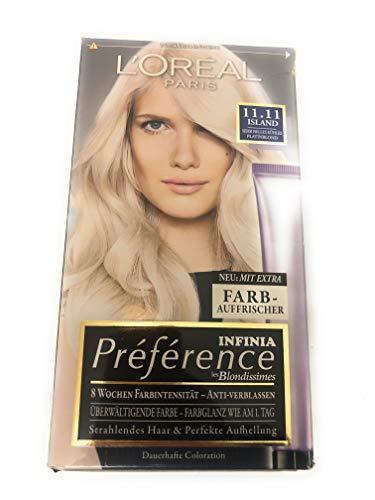 L'Oréal Paris Préférence Infinia Coloration Eisblond Sehr helles kühles Platinblond 11.11, 1 St (1er Pack)