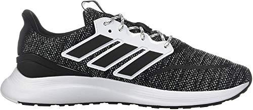 adidas Men's EnergyFalcon Running Shoe, Black/White, 10 M US
