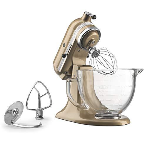 KitchenAid KSM155GBCZ KSM155GBSR Stand Mixer, 5 quart, Champagne