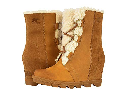 Sorel Women's Joan of Arctic Wedge II Lux Boots, Camel Brown, 9 M US