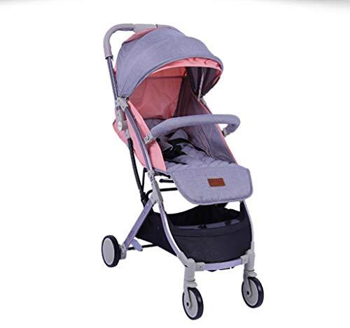 High Landscape Baby kinderwagen - Ultra lichte draagbare vierwielige wagen, liggend en klaar om te gaan, met één hand en een tweede vouwen, lichtgewicht maar stevige pasgeboren wandelwagen