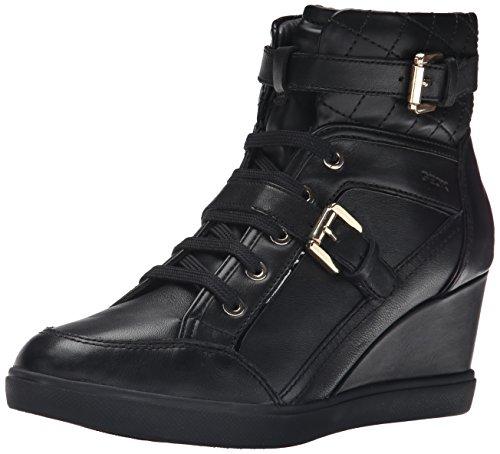 Geox D Eleni F - Zapatillas para Mujer, Color Negro (c9999/vit liscio), Talla 41